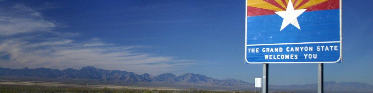 Entering Arizona on I-10 Westbound