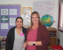 SBAR teacher Melissa and Fellow Arisbeth