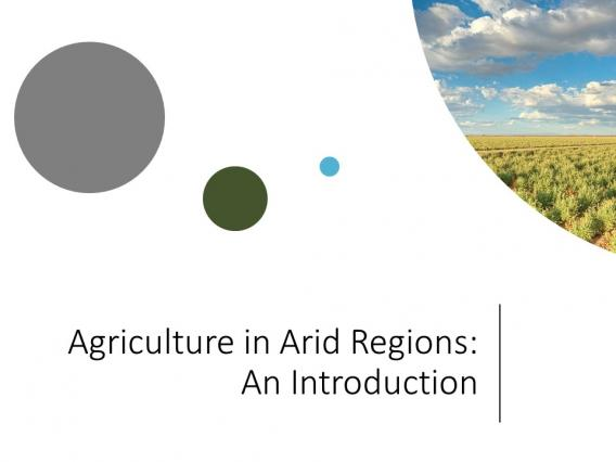 Agriculture in Arid Regions PowerPoint