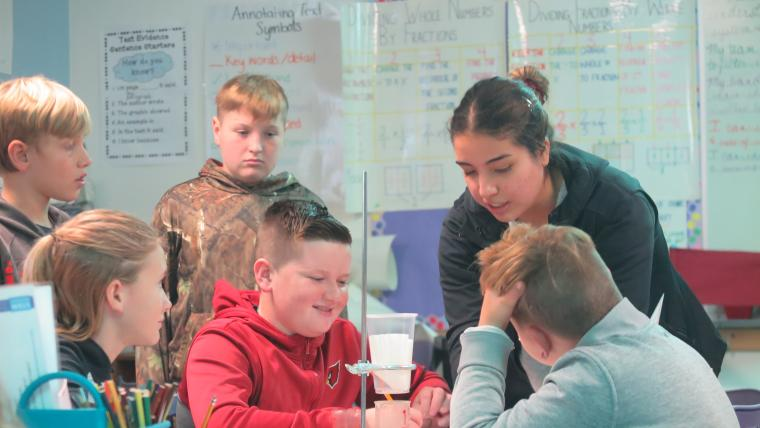 SBAR Fellows provide in classroom demonstrations and lessons