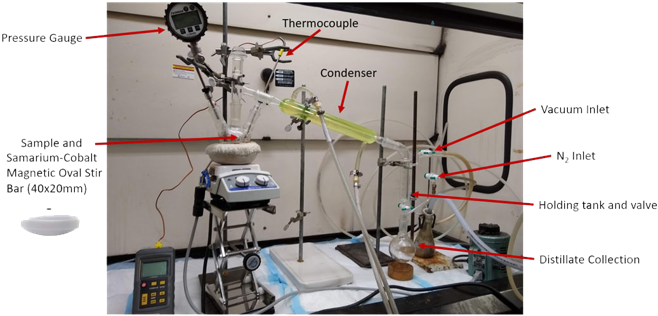 Vacuum distillation setup