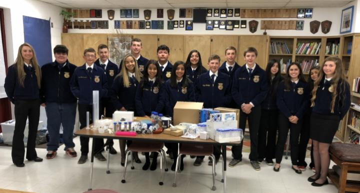FFA students from Roy, NM with SBAR kit